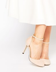 Blink Ankle Strap Heeled Shoes Nude
