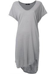 Bassike Boxy T Shirt Dress Grey