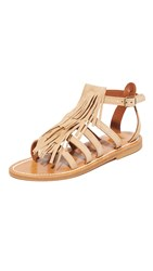 K. Jacques Fregate Fringe Sandals Velours Sultan