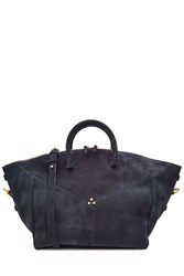 Jerome Dreyfuss Suede Tote Blue