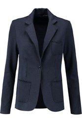 Majestic Cotton And Cashmere Blend Blazer Midnight Blue