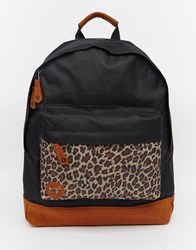Mi Pac Leopard Black And Leopard Backpack Black
