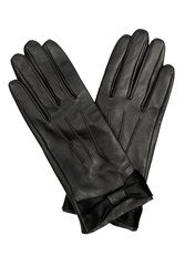 Oasis Bow Leather Glove Black