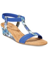 Alfani Women's Voyage Wedge Sandals Only At Macy's Women's Shoes Blue