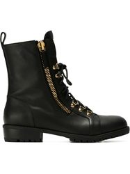 Giuseppe Zanotti Design Lace Up Boots Black