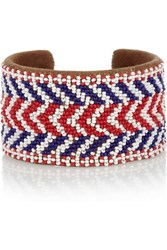 Isabel Marant Beaded Suede Cuff Tomato Red