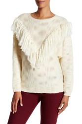 Trina Turk Lilee Merino Wool Sweater White