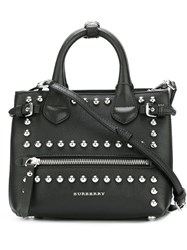 Burberry 'Baby Banner Check' Tote Black