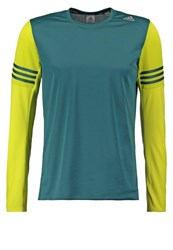 Adidas Performance Response Long Sleeved Top Tech Green Shock Slime Light Green