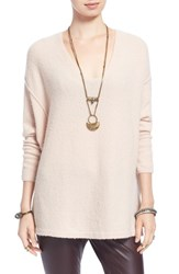 Women's Free People 'Softly' V Neck Sweater Ballet
