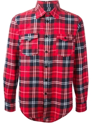 Les Artists Les Art Ists 'Tisci' Plaid Shirt Red