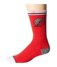 Stance Blazers Arena Logo Red Crew Cut Socks Shoes