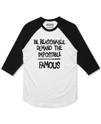 Famous Stars And Straps Men's Graphic Print T Shirt Whtblk