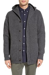 Barney Cools Men's Calgary Ribbed Hooded Cardigan