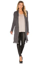 Velvet By Graham And Spencer Grahm Long Sleeve Cardigan Gray