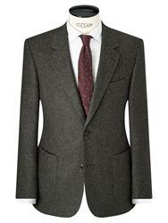 John Lewis And Co. Bennett Donegal Wool Tailored Suit Jacket Green