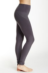 Yummie Tummie Tommy Coated Moto Legging Gray