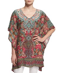 Tolani Camille V Neck Printed Tunic Gems Women's