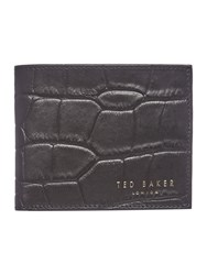 Ted Baker Crocsy Croc Embossed Bi Fold Wallet Black