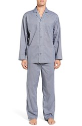 Nordstrom Men's Big And Tall Men's Shop Poplin Pajama Set Blue Micro Neat