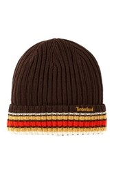 Timberland Chunky Knit Fashion Beanie Brown