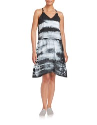 Marc New York Tie Dye Popover Dress Black