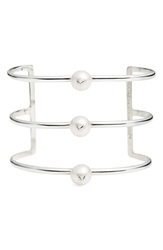 Nektar De Stagni 'New Classics' Spike Cultured Pearl Triple Row Cuff Stearling Silver