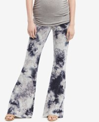Jessica Simpson Maternity Printed Flared Pants Forever Blue