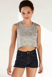 Bdg Big Leagues Cropped Tank Top Grey