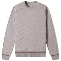Moncler Tipped Crew Knit Grey