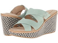 Hush Puppies Allie Dalten Light Aqua Nubuck Women's Wedge Shoes Blue