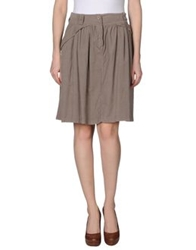 Knee Length Skirts Dove Grey