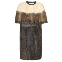 Marni Nutria Fur Coat Forest Green
