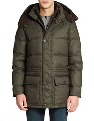 Vince Camuto Flannel Down Parka Brown