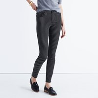 Madewell 9 High Rise Skinny Jeans Railroad Stripe Edition