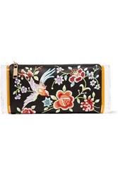 Edie Parker Soft Lara Embroidered Satin And Acrylic Box Clutch