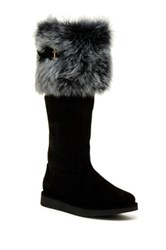Ugg Karina Tall Genuine Sheepskin Lined Boot Black