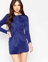 Wal G Dress With Twist Front Navy