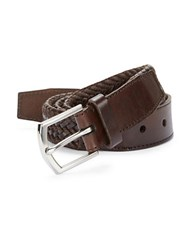 Cole Haan Braided Leather Belt Brown