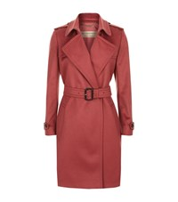 Burberry Tempsford Cashmere Trench Coat Female Rose