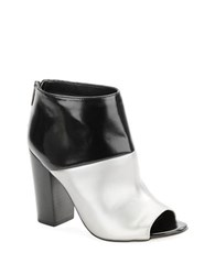 Sam Edelman North Peep Toe Booties Steel Black