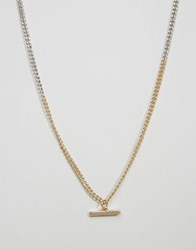 Icon Brand Link Chain Necklace In Silver Silver