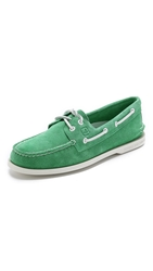 Sperry A O 2 Eye Suede Boat Shoes Green