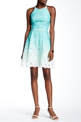 Adelyn Rae Dip Dye Lace Fit And Flare Dress Multi
