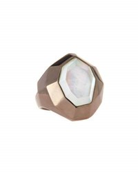 Michael Aram Faceted Mother Of Pearl And Crystal Doublet Ring
