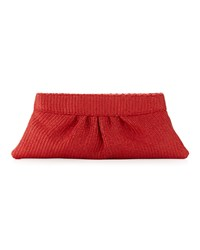 Lauren Merkin Louise Raffia Clutch Bag Bright Coral