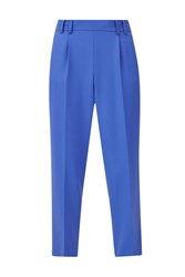 French Connection Whisper Light Cropped Peg Trousers Blue