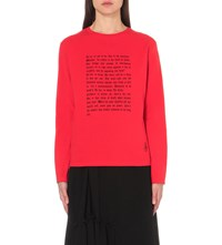 J.W.Anderson Shakespeare Ophelia Print Cotton Sweatshirt Red