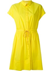 Vanessa Bruno Atha Tie Shirt Dress Yellow And Orange