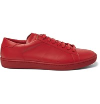 Saint Laurent Sl01 Court Classic Leather Sneakers Red
